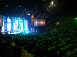 Assembled for worship in Moby Arena on Day 3 of the rally